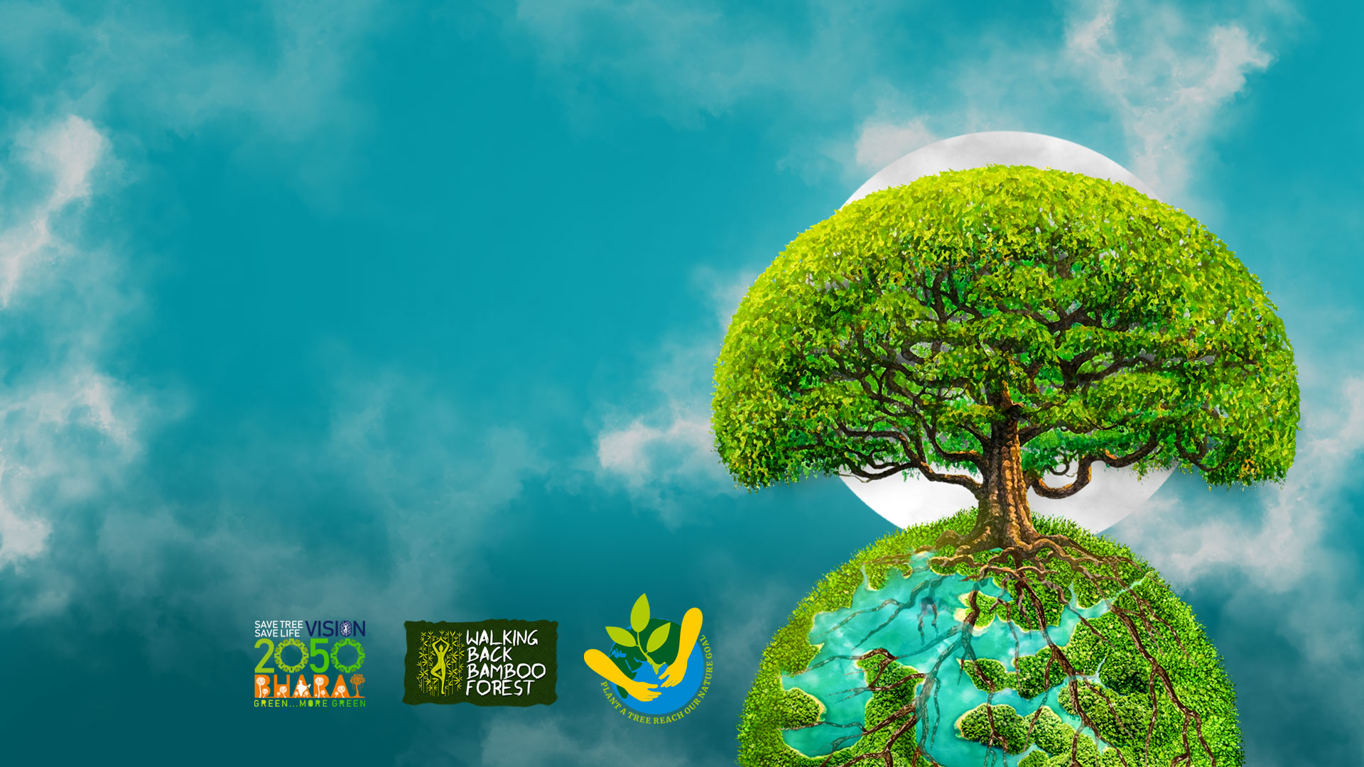 save-tree-save-life-society-banner-planting and caring 100 crore trees